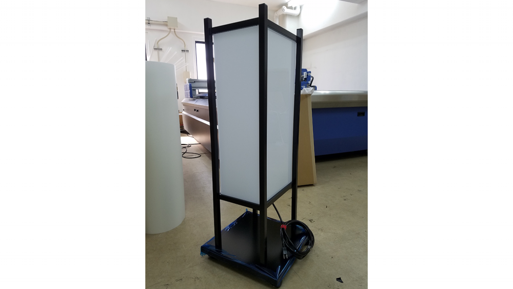 予想GUY!な和風電飾スタンド看板【月灯り】-表示面取付前の本体