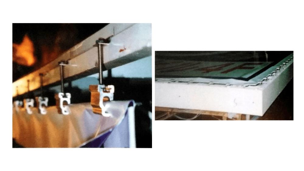 FFシート(フレキシブルフェイス)内照式看板の構造とシートの張り方について-FFハンガーボルト展張例