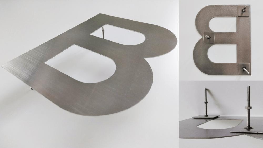【ステンレス切文字】素材の特徴とイメージに合った表面加工の選び方-金属切文字の詳細
