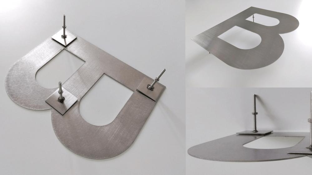 箱文字と切文字の違いとは?立体文字看板について詳しくご紹介!-金属切文字の製作方法・構造写真