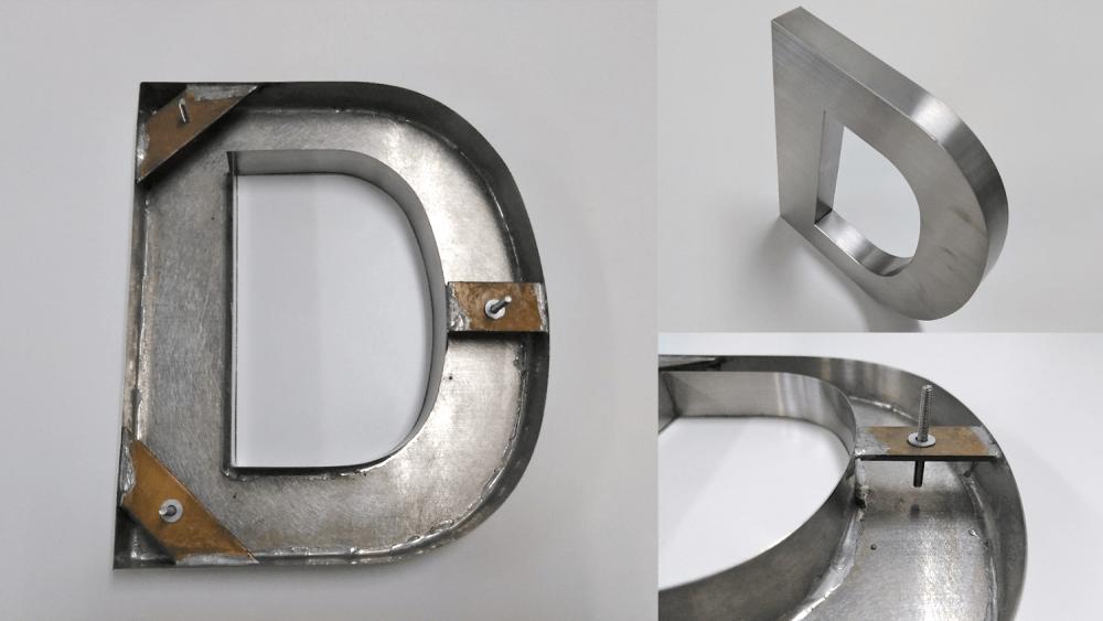 箱文字と切文字の違いとは?立体文字看板について詳しくご紹介!-金属文字の製作方法・構造写真