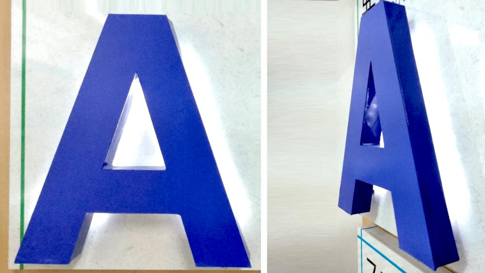 立体文字とLED照明をコーディネート!文字看板と照明の効果的な組み合わせ方法とは-バックライト箱文字看板